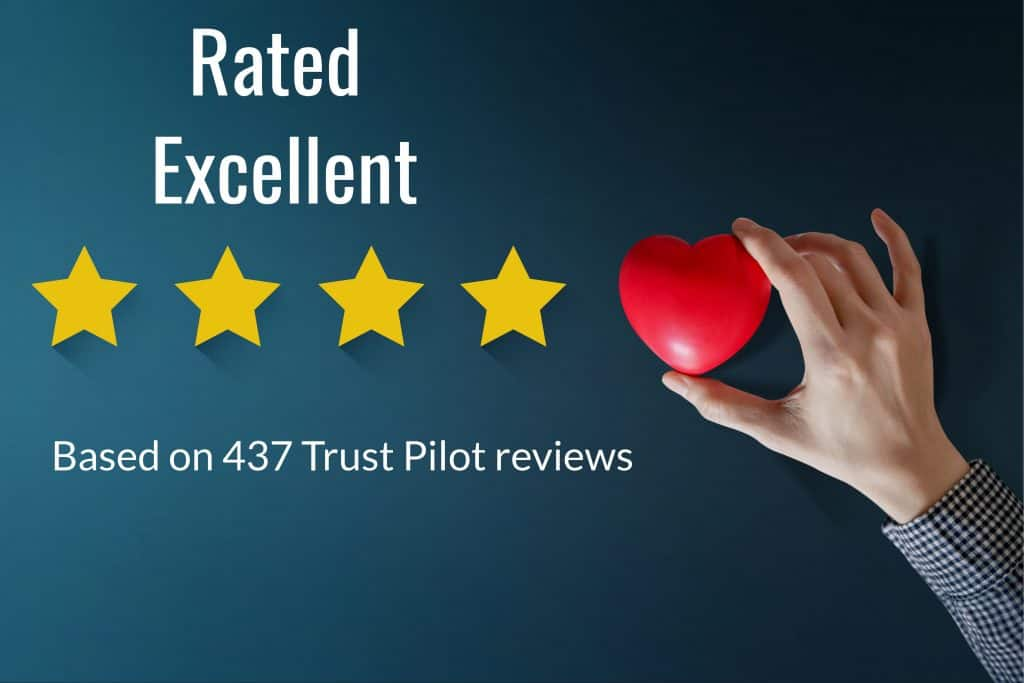 4 stars and a heart depicting excellence