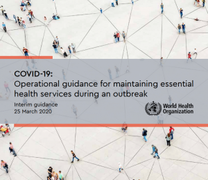 WHO interim guidance for Covid-19 during outbreak